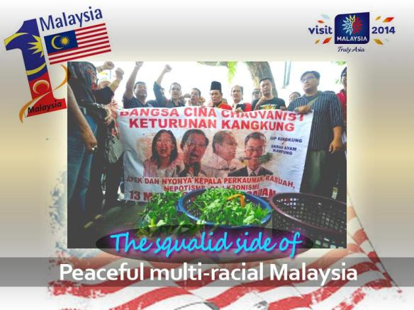 Hateful protest against the Chinese by Malays such as this is becoming a daily scenario in Malaysia