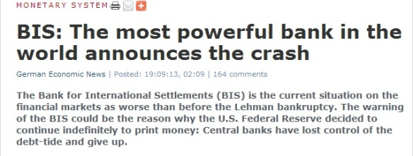 BANK OF INTERNATIONAL SETTLEMENTS:THE MOST POWERFUL BANK IN THE WORLD HAS JUST ANNOUNCED THE WORLDS FINANCIAL SYSTEM CRASH!