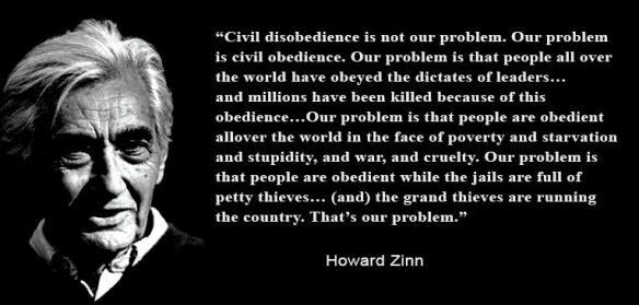 "Matt Damon reads from Howard Zinn's speech ""The Problem is Civil Obedience"" (November 1970)"