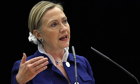 Hillary Clinton condemned China's monitoring of its citizens, yet 'how can we possibly reconcile repeated American appeals to internet freedom and condemnation of Chinese internet monitoring with US-sponsored network hacking?' Photograph: Alex Brandon/Associated Press