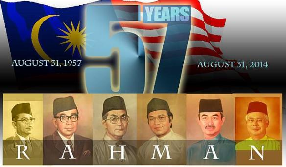 The RAHMAN legacy a prophetic conceptualized in 1957 by the Malays right after the 1957 independence eerily complete by the Najib when he took over in 2010
