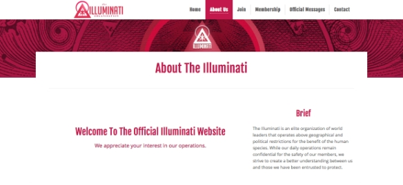 Illuminati website